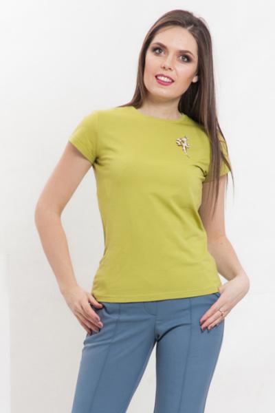 Блуза из плотного трикотажа цвет лайм, Б-194/6