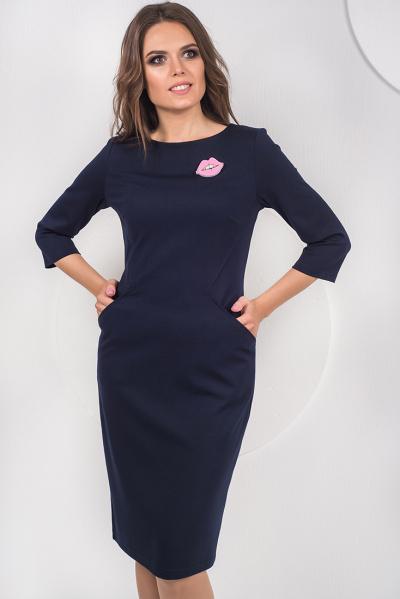 Платье с оригинальными карманами П-475/1